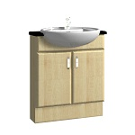 600mm Semi-Recessed Basin Unit
