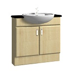 800mm Semi-Recessed Basin Unit